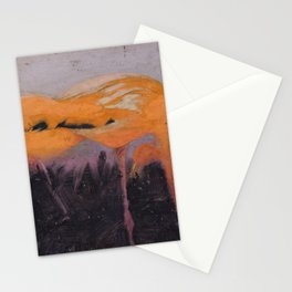 Abbott Handerson Thayer - Red Flamingoes, study for book Concealing Coloration in the Animal Kingdom Stationery Cards
