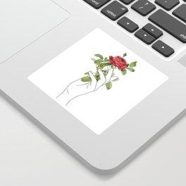 Flower in the Hand Sticker