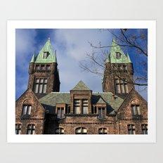 richardson towers, front. Art Print