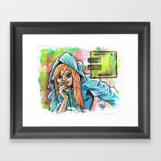 Another Girl in a Hoodie Framed Art Print