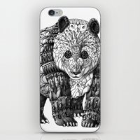 panda iPhone & iPod Skins featuring Panda by BIOWORKZ