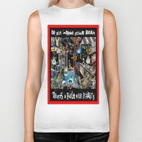 the fault Biker Tanks featuring FAULT WITH REALITY by LIGGYZIGHAT