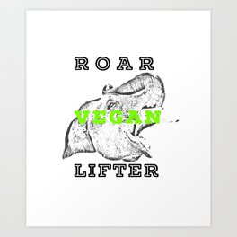 Roar Vegan Lifter Elephant Art Print