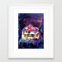cake Framed Art Prints featuring Cake by Andreea Maria Has