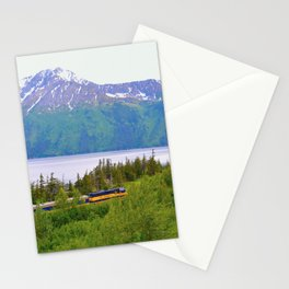 Alaska Passenger Train - Bird Point Stationery Cards