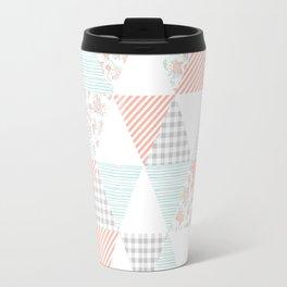 Quilt nursery cheater quilt minimal floral camping pattern modern color palette Travel Mug