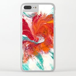 Acrylic Pour Tornado Clear iPhone Case