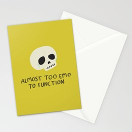 Almost Too Emo to Function Stationery Cards