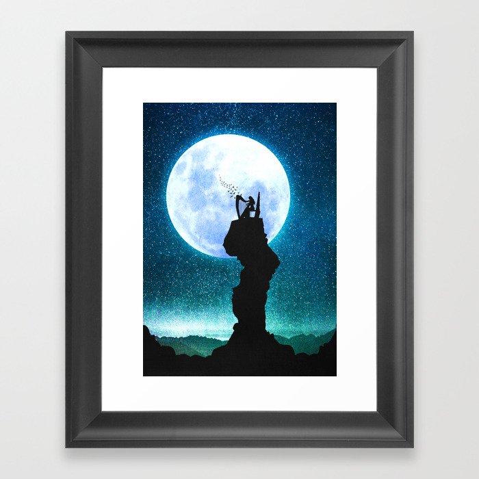 A Midnight Lullaby Framed Art Print