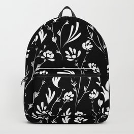 Wild Cosmos, Black and White Backpack
