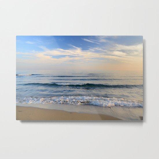 """Serenity sea"". Waves. At sunset Metal Print"