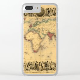 Map Of The British Empire 1850 Clear iPhone Case