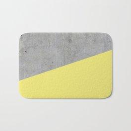 Concrete and Yellow Color Bath Mat