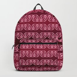 Chained Circles in Cherry Red Backpack