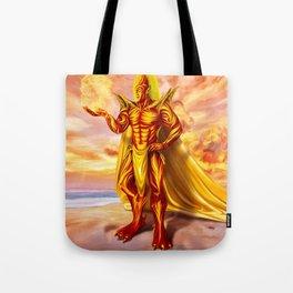 Dwain God of fire Tote Bag