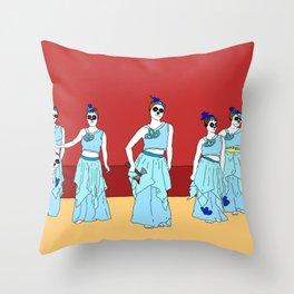 Naughty Nurses Throw Pillow