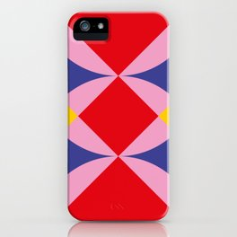Two fly shaped wrestler's heads intersecating, making a beautiful red square in the center. iPhone Case