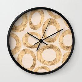 Large Circles (Pink) Wall Clock