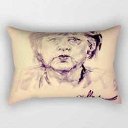 Angela Merkel Rectangular Pillow