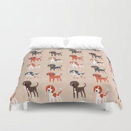 Coonhounds! Duvet Cover