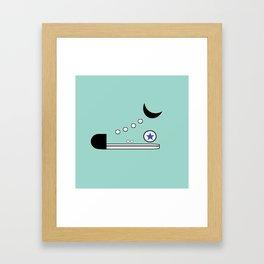 High Top Framed Art Print