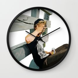 Ghosted Skater Wall Clock