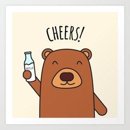 Cheers, Bear! Art Print