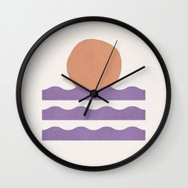 Sunset Wave - Abstract Painting Wall Clock