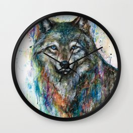 COLORFUL WOLF Wall Clock