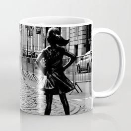 Fearless Girl and the Charging Bull Coffee Mug