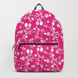 Rose Pink Floral Pattern Backpack