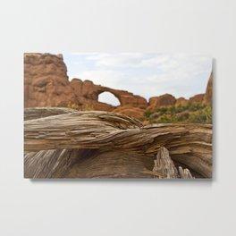 Layers of Texture - Moab, Utah Metal Print