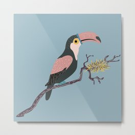Toucan and Nest Metal Print