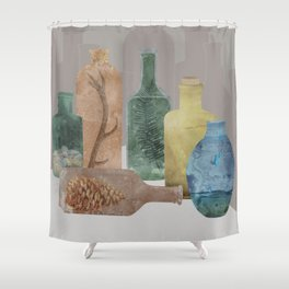 Deconstructed Woods Shower Curtain