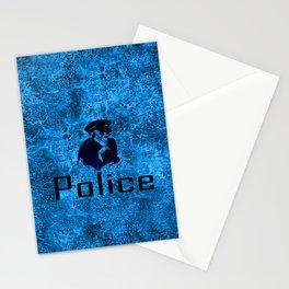 police skull Stationery Cards