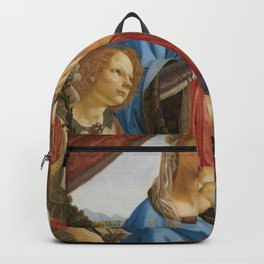 Andrea del Verrocchio - The Virgin and Child with Two Angels Backpack