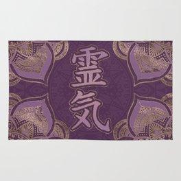 Reiki Symbols - pastel purple and gold Rug