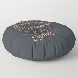 Don't Compare Yourself Quote - Stars & Moon Floor Pillow