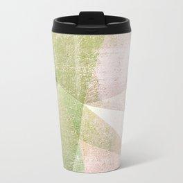 Frozen Geometry - Pink & Green Travel Mug