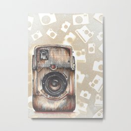 Brownie Bullseye Camera Metal Print