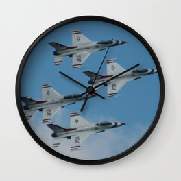 USAF Thunderbirds Diamond 4 Wall Clock