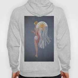 "1920's Art Deco Design ""The Flapper"" Hoody"