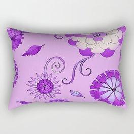 Purple Crazy Daisy pattern Rectangular Pillow
