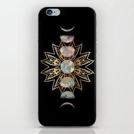 Opal Moon and Gold Stars iPhone Skin