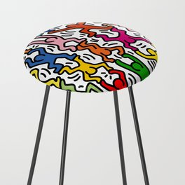Homage to Keith Haring Acrobats II Counter Stool