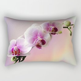 Pastel Rainbow Orchid Rectangular Pillow