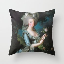 Marie Antoinette with the Rose, Elisabeth Vigee Le Brun, 1783 Throw Pillow