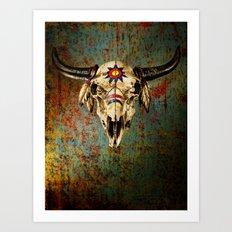 Grungy Skull Art Print