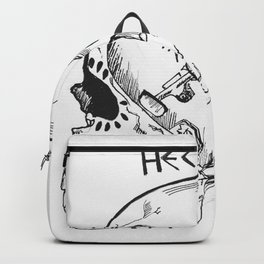 Skateboarding Skull Backpack