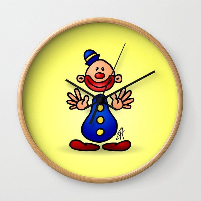 Cheerful circus clown Wall Clock